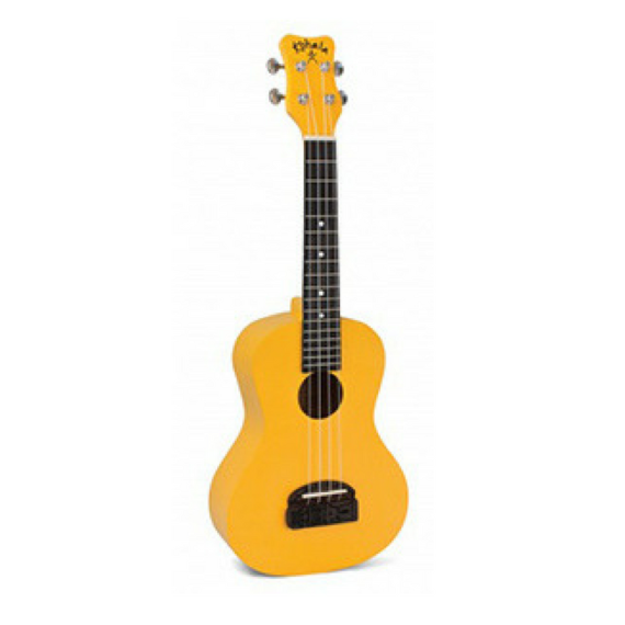 tiki yellow ukulele