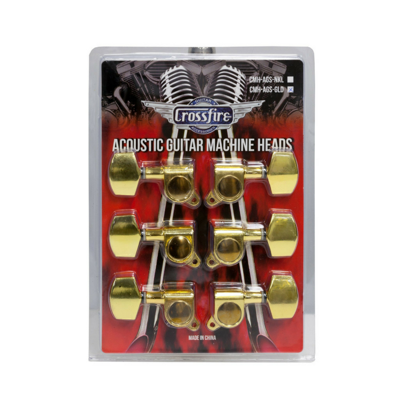 Crossfire Acoustic Guitar Machine Head Set Gold With Buttons